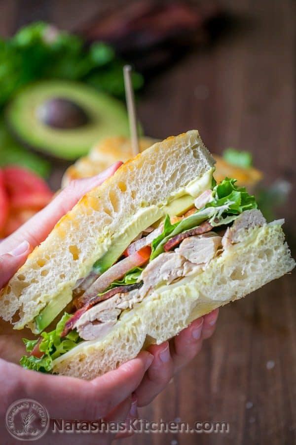 focaccia bread turkey sandwich