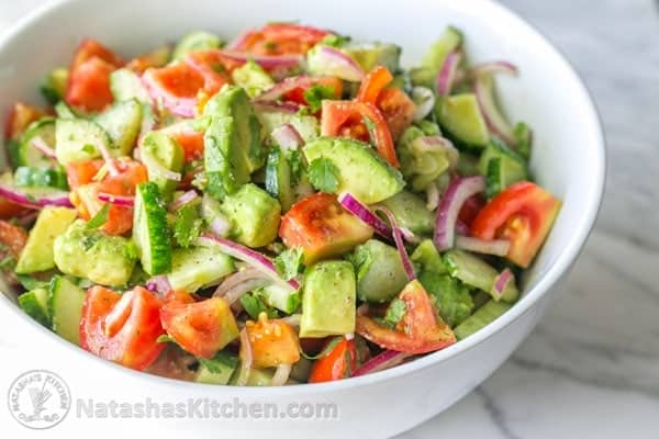 This Cucumber Tomato Avocado Salad recipe is a keeper! Easy, Excellent ...