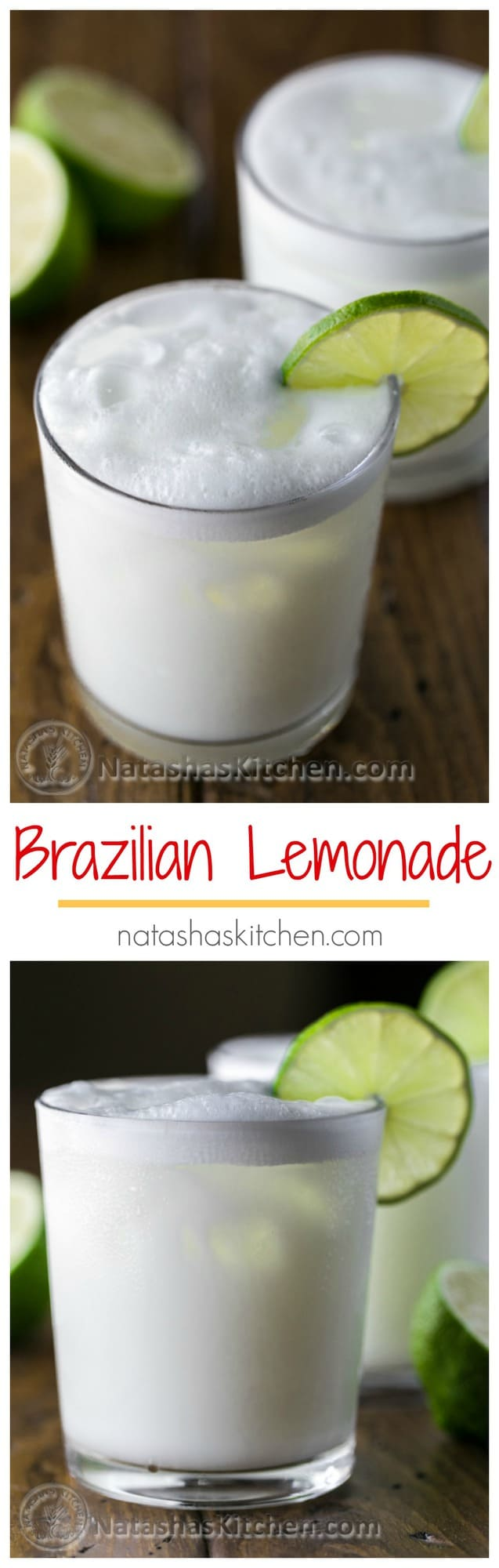 Have you tried Brazilian Lemonade? It's refreshing and smooth. You'll be surprised by the list of ingredients! | natashaskitchen.com