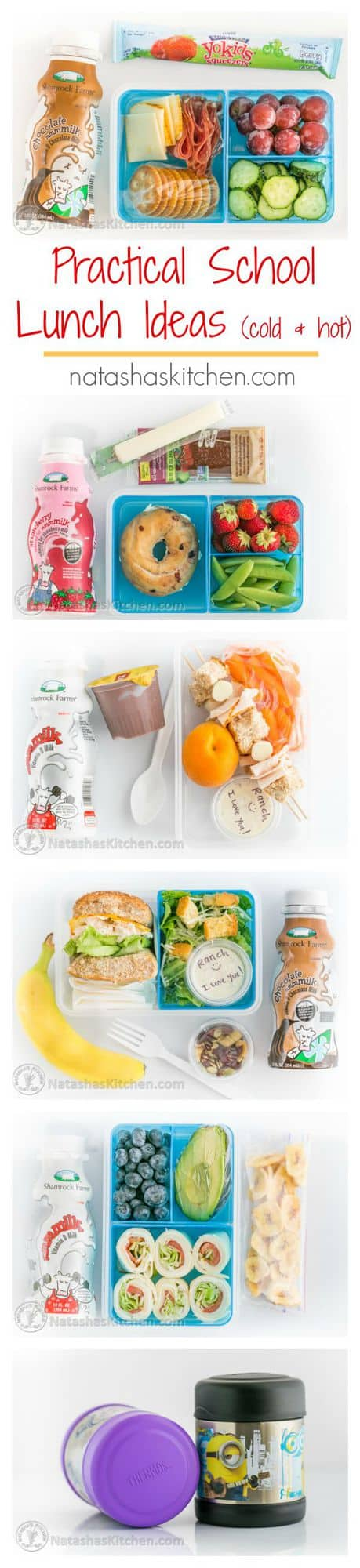Youll Want To Pin These Practical School Lunch Ideas Cold And Hot Lunches