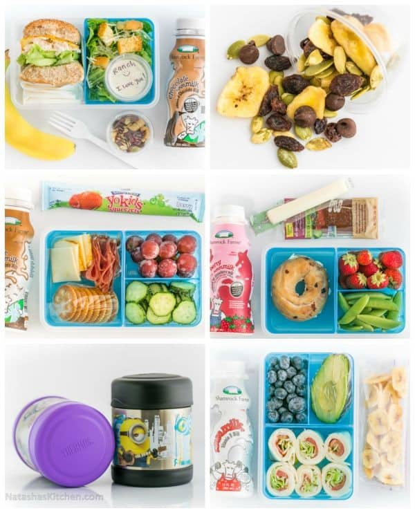 You'll want to pin these practical School Lunch Ideas. Cold and hot lunches your kids will actually eat! | natashaskitchen.com