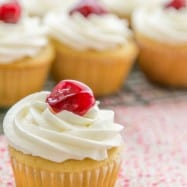 The cherry surprise in these Honey Cupcakes makes me ridiculously happy. This recipe yields 24 cupcakes. The softest honey cupcakes!