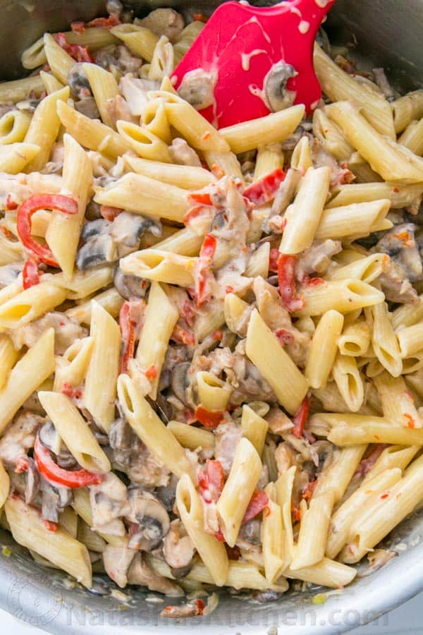 Chicken and Vegetable Penne Alfredo-2