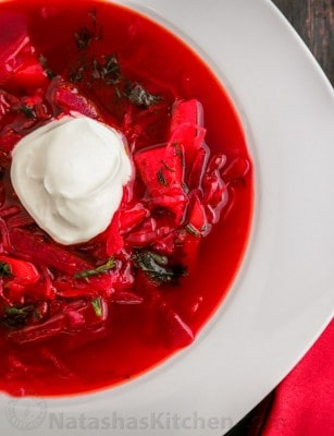 Classic Borsch Recipe, just like mom used to make | natashaskitchen.com