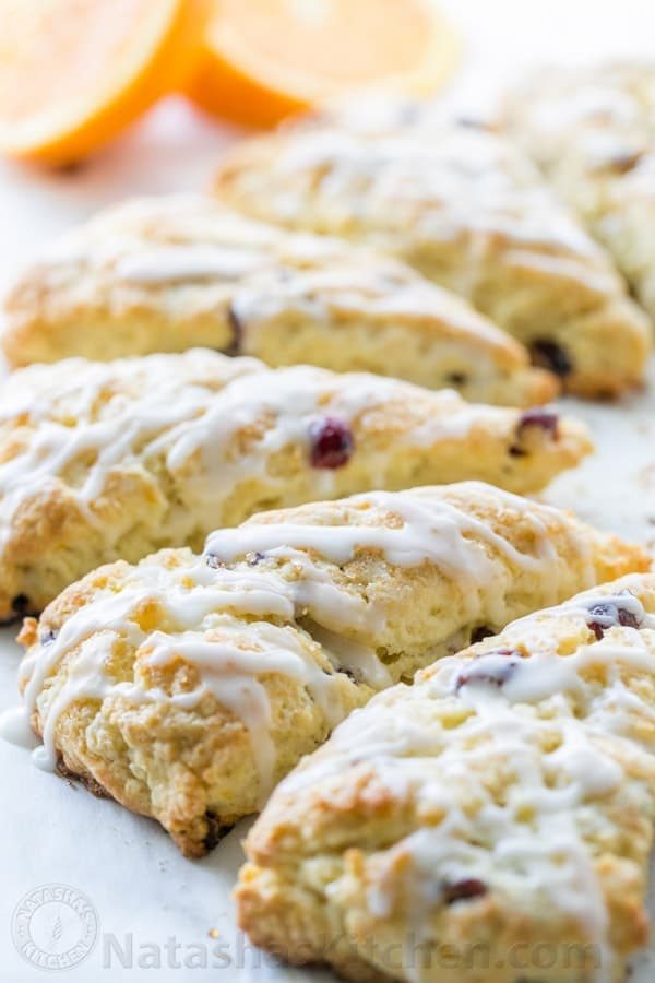 Cranberry Orange Scones recipe - billow soft, crumbly and so easy! | natashaskitchen.com