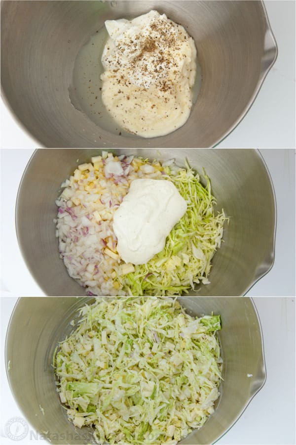 Creamy Apple Cole Slaw-4
