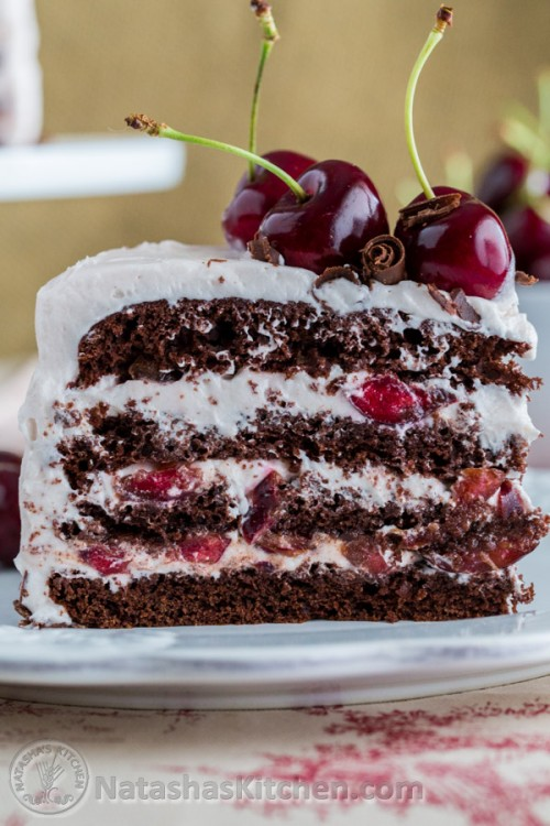 Торт с шоколадный с вишней рецепт с пошагово