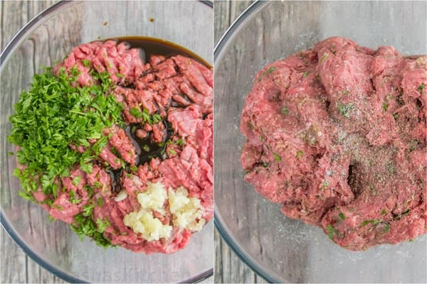These burgers are fresh, juicy, fluffy and delicious, and feel lighter on the gut than frozen patties. So easy and they totally taste gourmet! | natashaskitchen.com