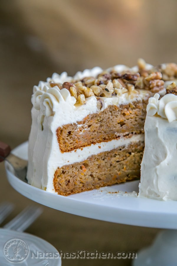 The naturally sweet carrots in this Healthier Carrot Cake, combined with honey and applesauce take it to a whole new, and quite nutritional, level.