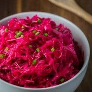 Marinated Cabbage and Beet Salad   natashaskitchen.com
