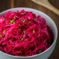 Marinated Cabbage and Beet Salad | natashaskitchen.com