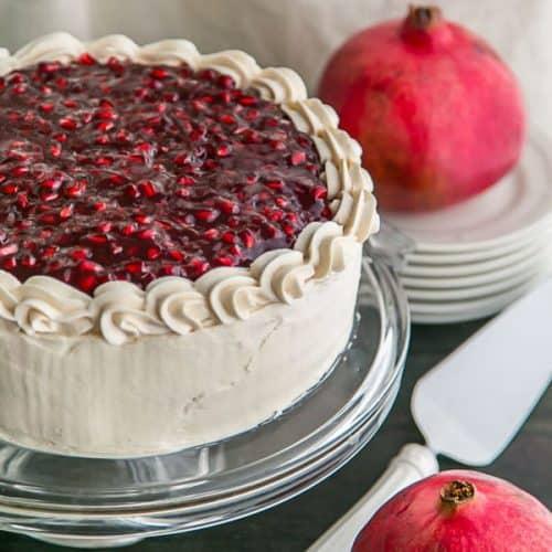 Christmas Cake Recipe.Pomegranate Christmas Cake