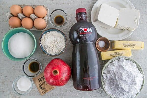 Pomegranate Christmas Cake Recipe