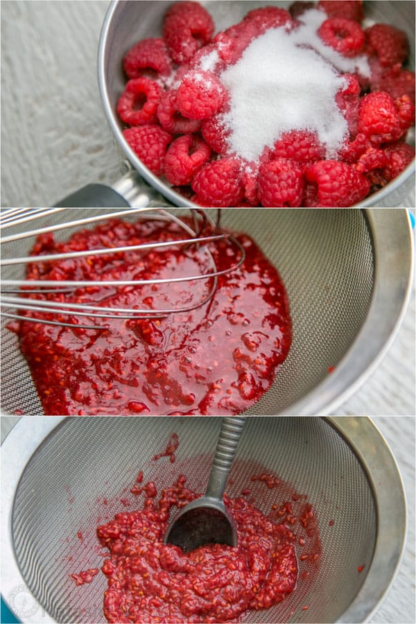 Angel Food Cake With Raspberry Filling