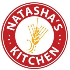 A close up of a logo that says Natasha's Kitchen