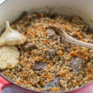 Buckwheat Pilaf with fall-apart tender beef - simple and excellent dish. You'll be running back for refills! | natashaskitchen.com