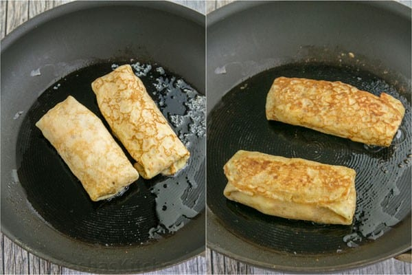 Egg, Ham and Cheese Crepe Pockets - Our son's favorite breakfast and they are freezer friendly! | natashaskitchen.com