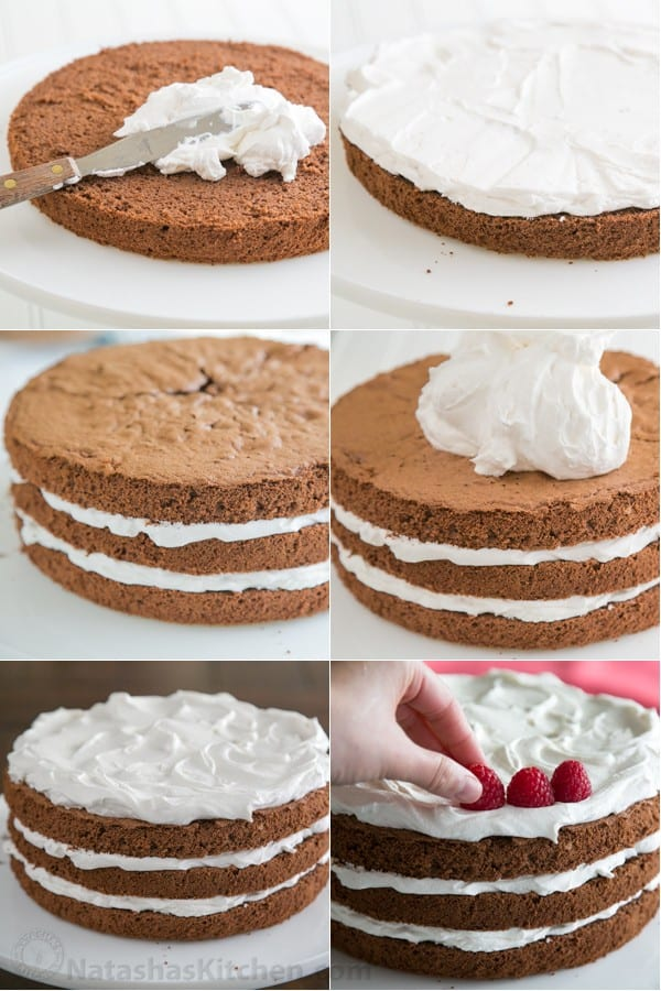 Chocolate Layer Cake with Creme Chantilly Frosting-14