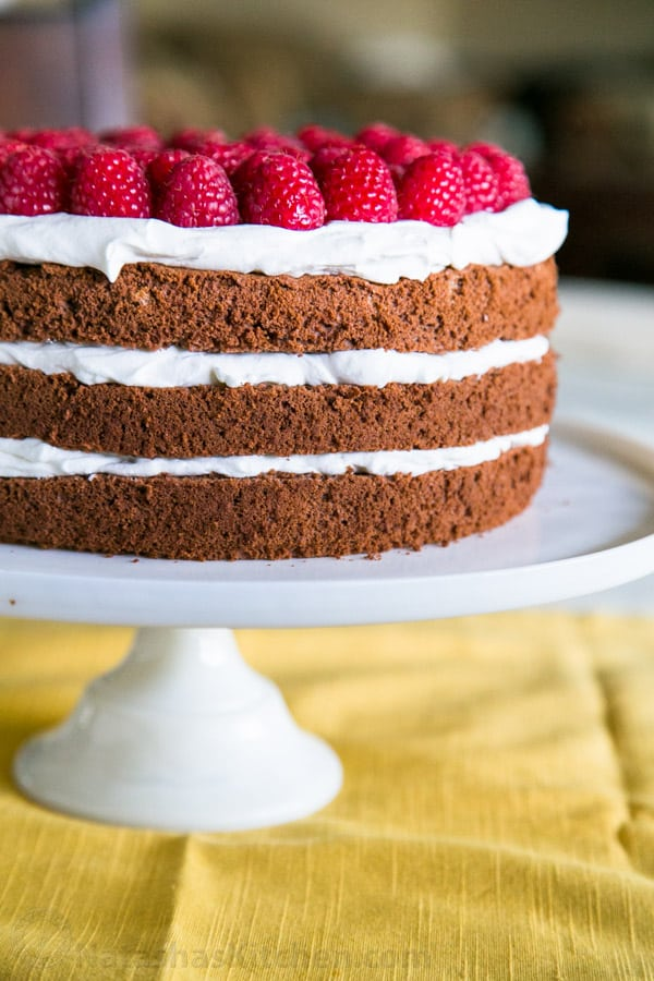 Swell Chocolate Layer Cake With Creme Chantilly Frosting Recipe Funny Birthday Cards Online Overcheapnameinfo