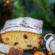 This sweet cranberry apricot loaf made our house smell like Christmas morning. It is soft, moist, crumbly and loaded with tang of cranberries and apricots.