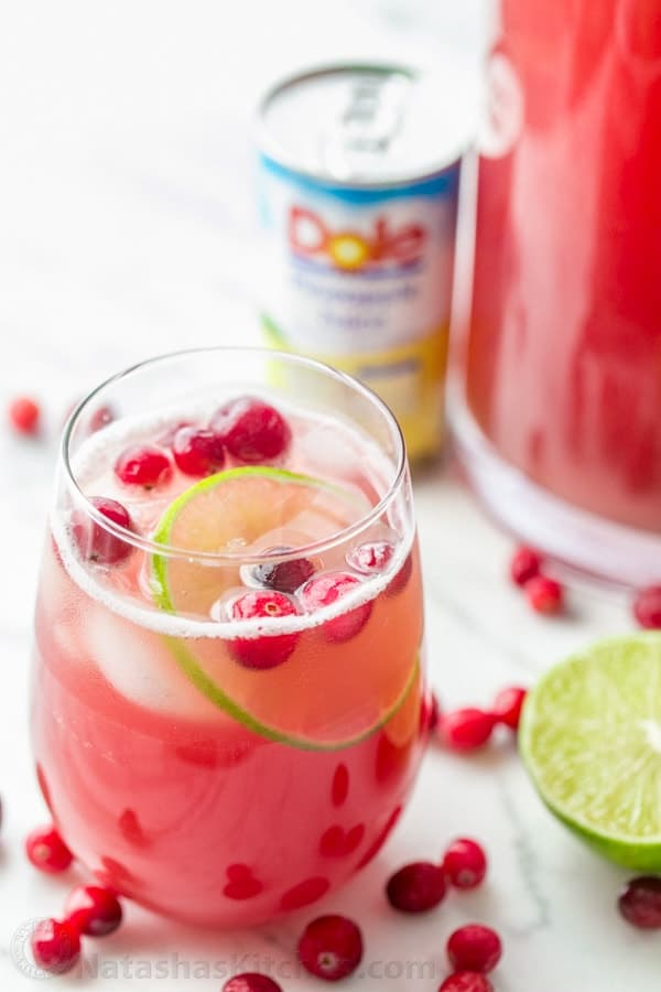 Alcoholic Drink With Cranberry And Pineapple Juice
