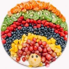 Turkey Fruit Platter - Creative Thanksgiving Fruit Platter