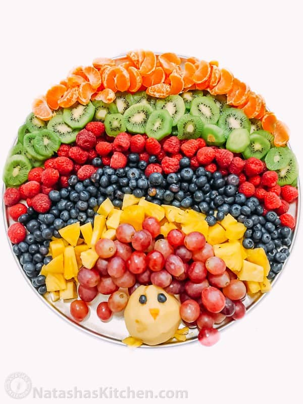 Turkey Fruit Platter - Creative Thanksgiving Fruit Platter