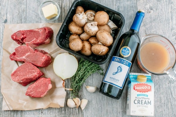 An easy, excellent recipe for filet mignon. The mushroom wine sauce is mouthwatering and will give you plenty of recipe requests. Perfect for any occasion.