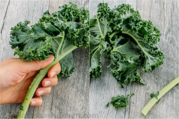 This kale salad is a make-ahead GREEN salad and is just as good the next day (perfect for parties!). So healthy and delicious. You'll make this kale salad again and again!