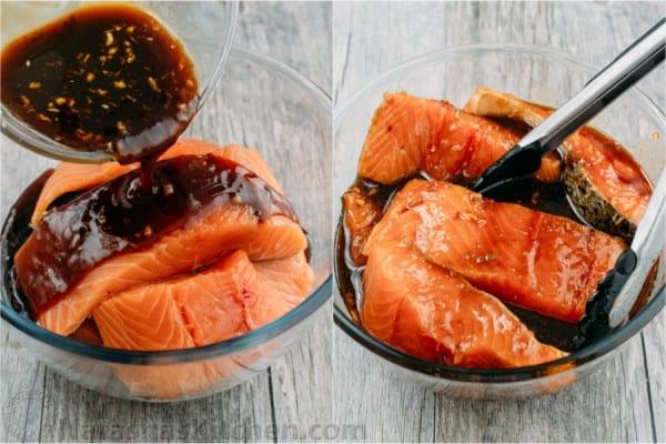 Teriyaki Salmon Recipe Natashaskitchen Com