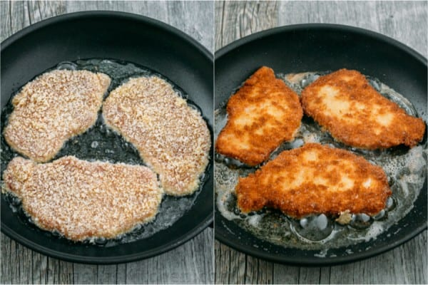 German pork schnitzel is an easy recipe, kid friendly and perfect for busy weeknights! Pork schnitzels are pork chops with a crispy crust and juicy center.