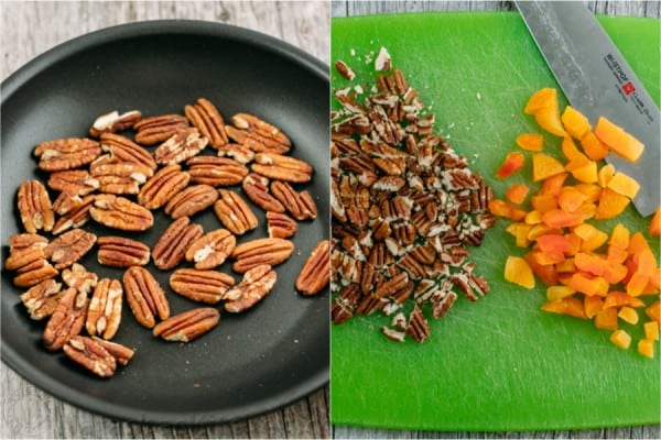 A simple and tasty carrot salad studded with apricots and pecans. The dressing in this carrot salad is delicious - you'll want it on all of your salads!