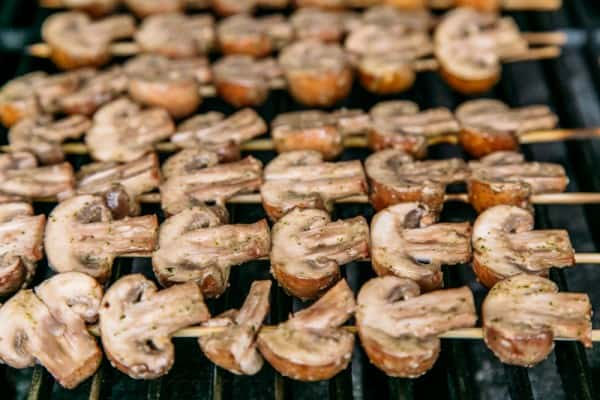 Grilled Mushrooms on Skewers-6