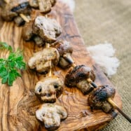 I absolutely love these Grilled Mushrooms on Skewers in every constellation! This easy marinated mushroom recipe is perfect for the grill.