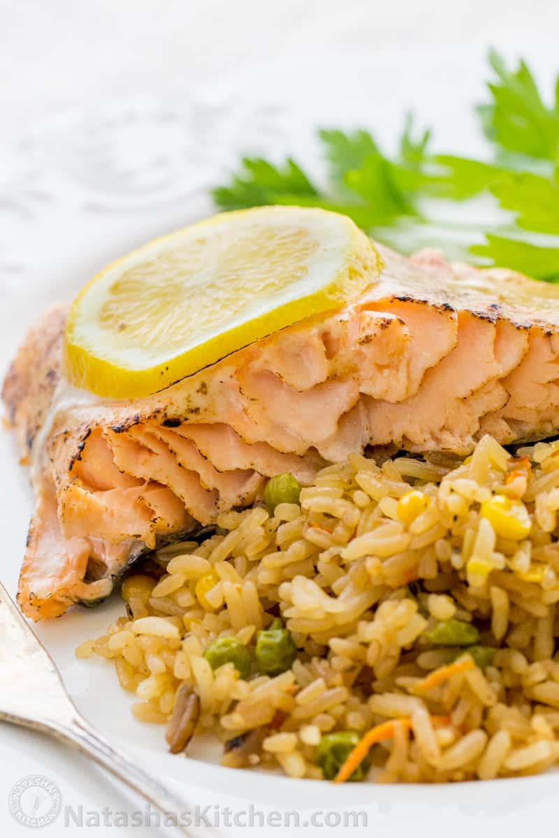 This Oven Baked Glazed Salmon Recipe Has A Wellseasoned, Tangy Crust And  It's