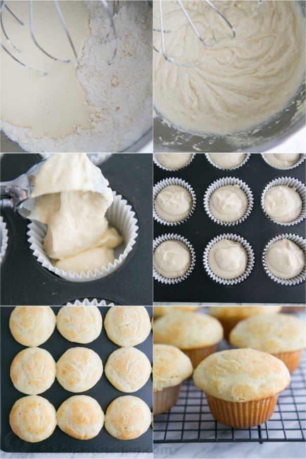 Greek Yogurt Cupcakes with Blackberry Frosting-7