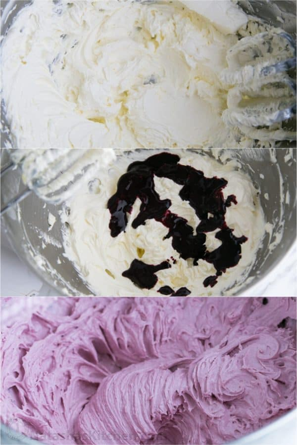Greek Yogurt Cupcakes with Blackberry Frosting-9