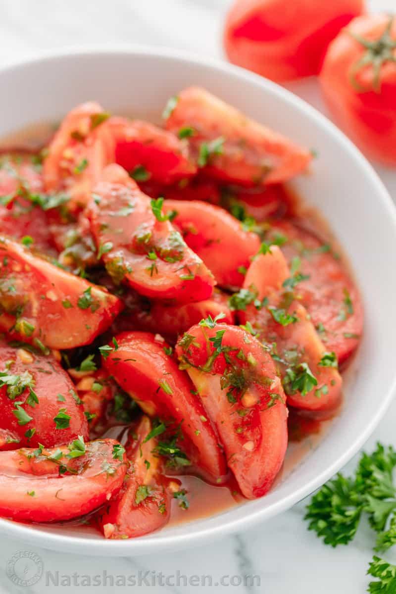 Fast Marinated Tomatoes: Recipes 11