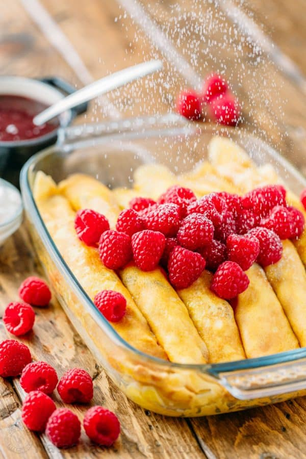 Making cheese crepes is easier than you think! All you need is a blender and non-stick skillet to make the best crepes filled with cheese.