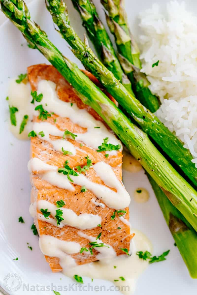 Salmon With Lemon Cream Sauce Recipe — Dishmaps