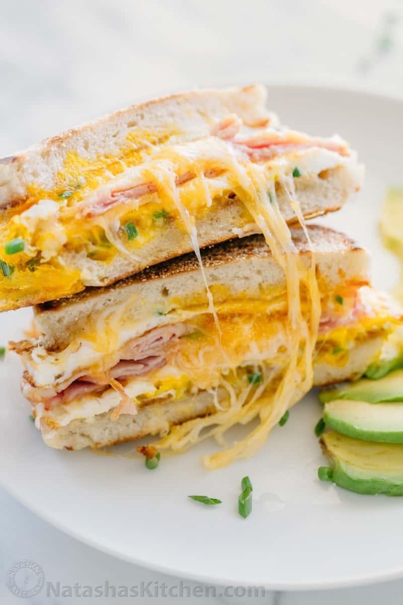 breakfast sandwich one pan breakfast natashas kitchencom
