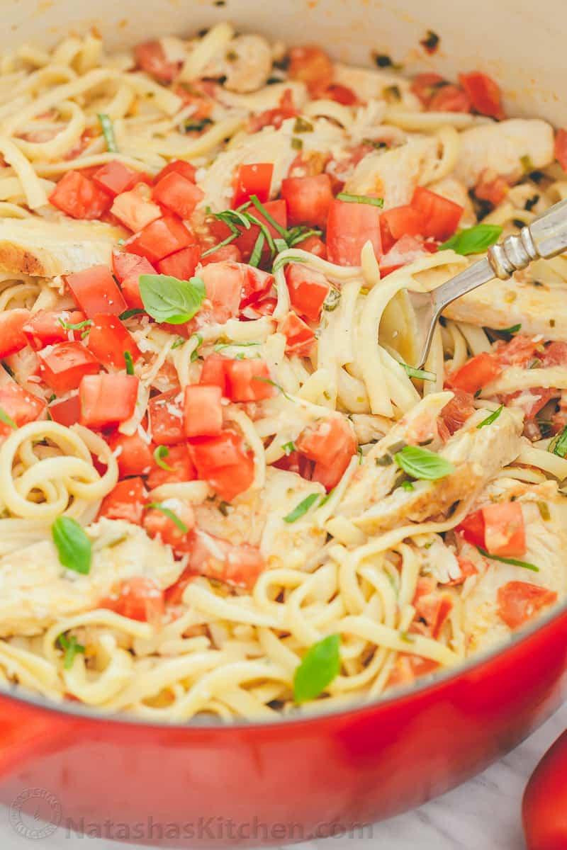 Chicken Pasta in Creamy Tomato Sauce - NatashasKitchen.com