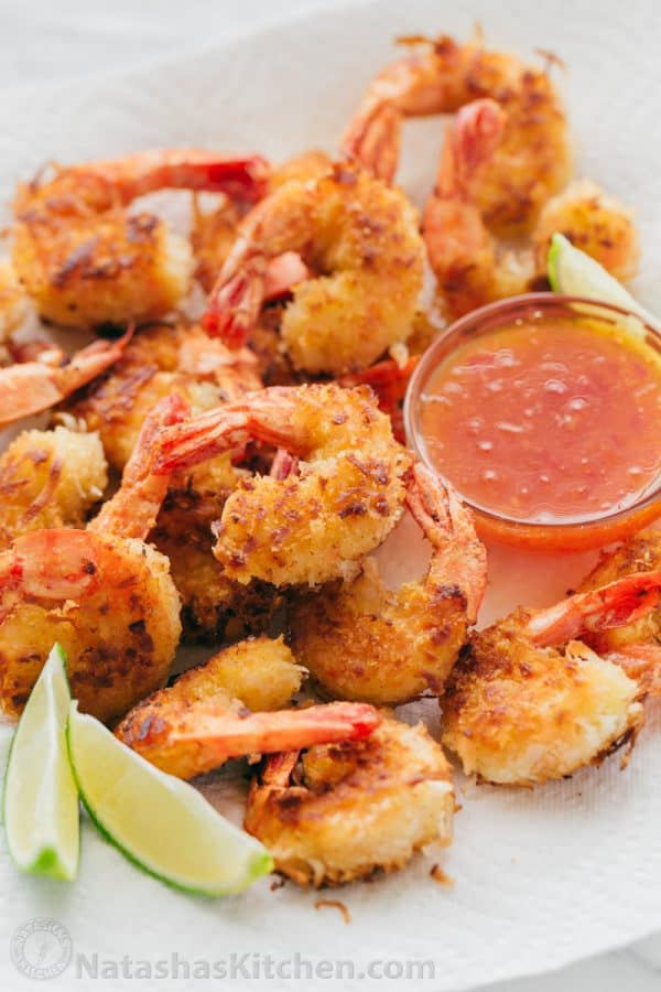 Coconut Shrimp And Easy Dipping Sauce Natashas Kitchen