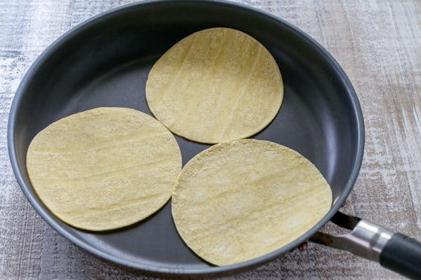 How to toast tortillas on a dry skillet