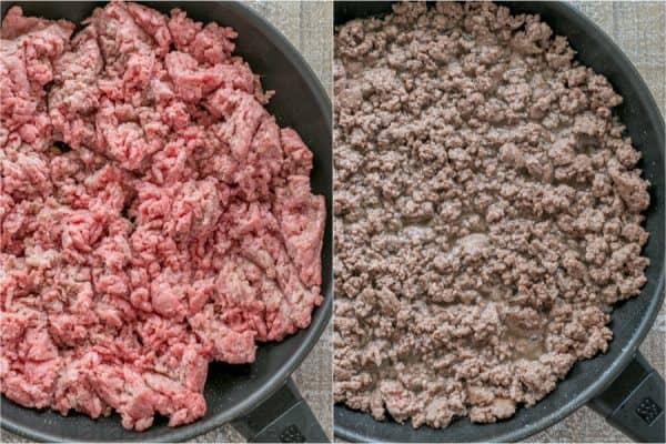 How to make ground beef for tacos in a skillet