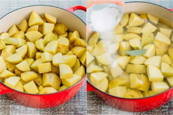 Step by step how to boil potatoes