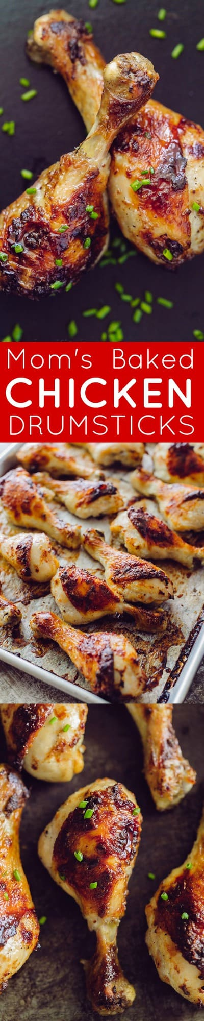 Tender, Juicy Baked Chicken Drumsticks With A Crisp, Salty Skin Marinade  Has Only