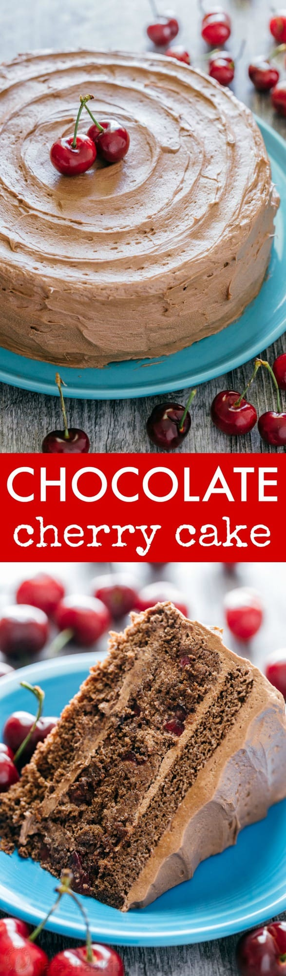 Chocolate Cherry Cake Recipe - NatashasKitchen.com