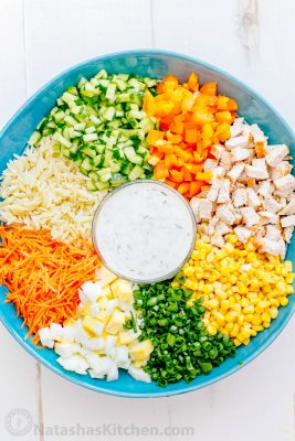 how to make a pasta salad with chicken