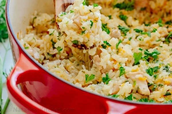 Creamy Chicken And Rice Recipe Natasha Kitchen